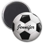 Customizable Football Soccer Ball 2 Inch Round Magnet