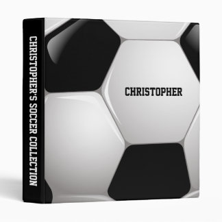 Customizable Football Soccer Ball 3 Ring Binder