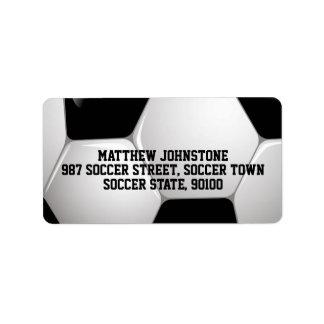 Customizable Football Soccer Ball Address Label