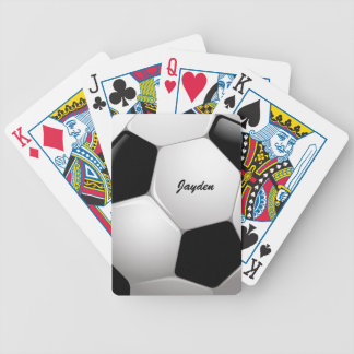 Customizable Football Soccer Ball Bicycle Playing Cards