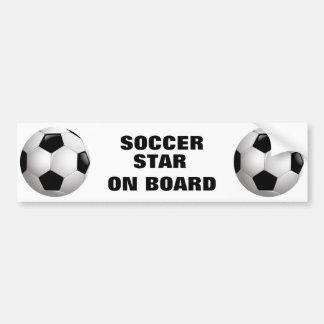 Customizable Football Soccer Ball Bumper Sticker