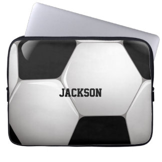 Customizable Football Soccer Ball Computer Sleeve