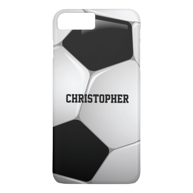Customizable Football Soccer Ball iPhone 7 Plus Case