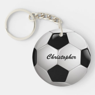 Customizable Football Soccer Ball Double-Sided Round Acrylic Keychain