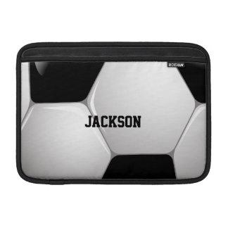 Customizable Football Soccer Ball MacBook Sleeves
