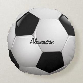 Customizable Football Soccer Ball Round Pillow