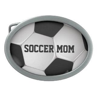 Customizable Football Soccer Ball Oval Belt Buckle