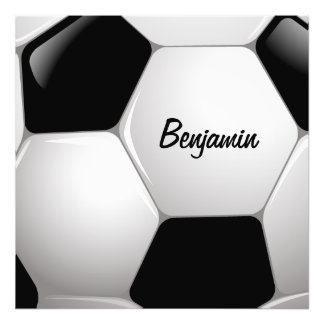 Customizable Football Soccer Ball Photo Print