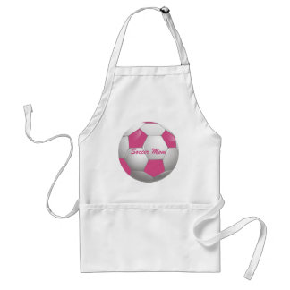 Customizable Football Soccer Ball Pink and White Adult Apron