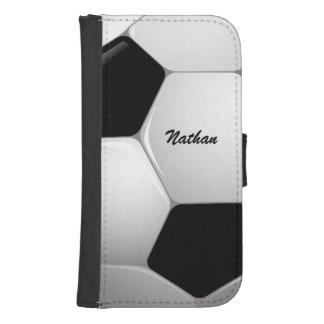 Customizable Football Soccer Ball Galaxy S4 Wallet