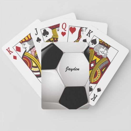 Customizable Football Soccer Ball Playing Cards