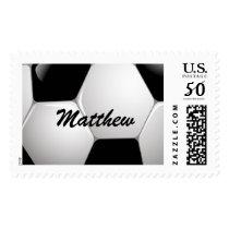 Customizable Football Soccer Ball Postage