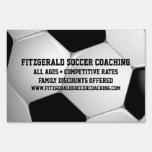 Customizable Football Soccer Ball Signs