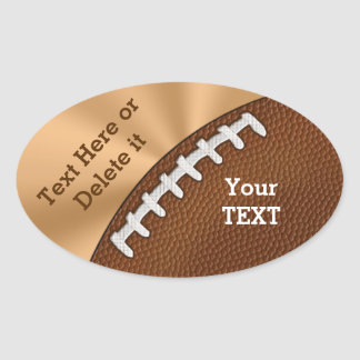 Customizable Football Stickers for Kids and Adults