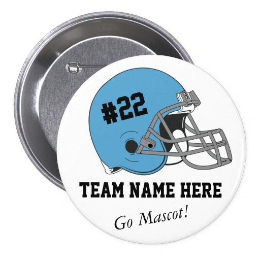 Customizable Football Team Button