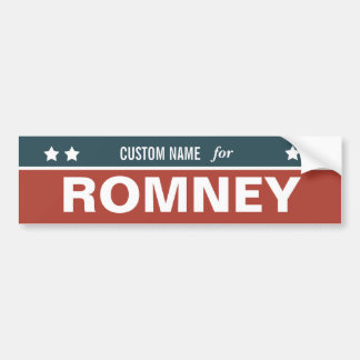 CUSTOMIZABLE For Romney Bumper Sticker