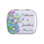 Customizable Forget Me Nots Wedding Candy Tin