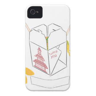 Customizable Fortune Cookie w/ Chinese Takeout Box iPhone 4 Case-Mate Case