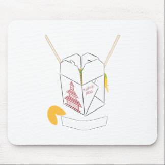 Customizable Fortune Cookie w/ Chinese Takeout Box Mouse Pad