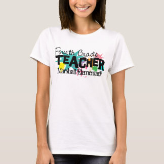 Customizable Fourth Grade Teacher T-Shirt