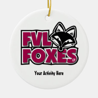 Customizable Foxes Ornament