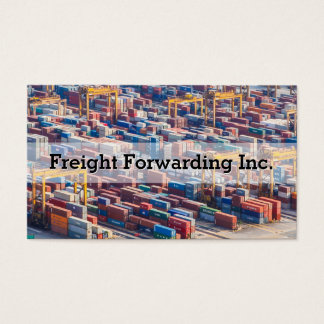 Customizable Freight Transport Container Business Card