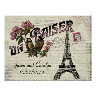 Customizable French Vintage Love Poster