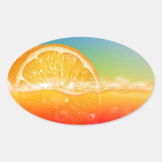 Customizable Fresh Drink Designs Oval Sticker