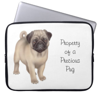 Customizable Friendly Pug Dog Laptop Sleeve