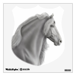 Customizable Friesian Horse Crest Wall Decal