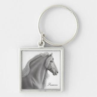 Customizable Friesian Horse Keychain