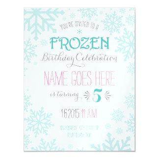 Customizable Frozen Birthday Invitation