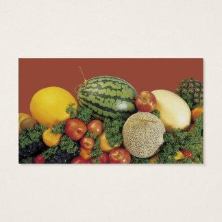 Customizable fruit vegetable medley business cards
