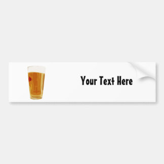 Customizable Full Golden Beer Glass Bumper Sticker