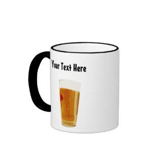 Customizable Full Golden Beer Glass Coffee Mug