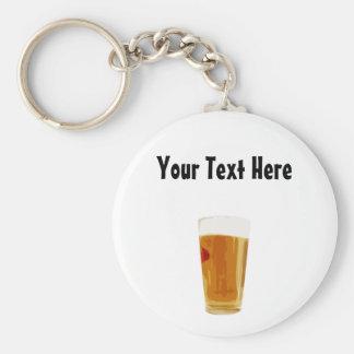 Customizable Full Golden Beer Glass Keychain