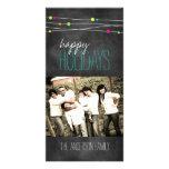 Customizable Fun Chalkboard Photo Card