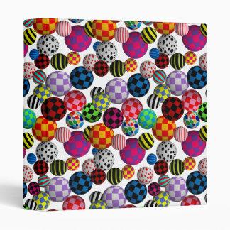 Customizable Fun & Colorful Balls Binders