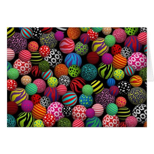 Customizable Fun & Colorful Balls Card