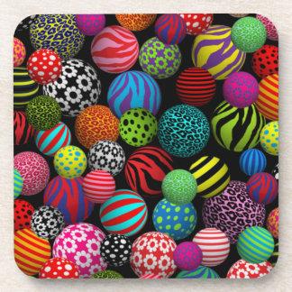 Customizable Fun & Colorful Balls Coaster