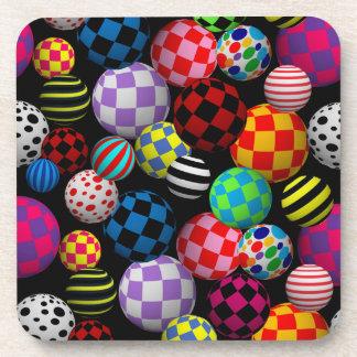 Customizable Fun & Colorful Balls Coasters
