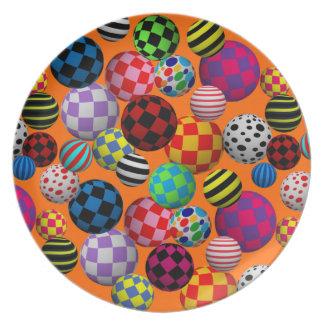 Customizable Fun & Colorful Balls Dinner Plates