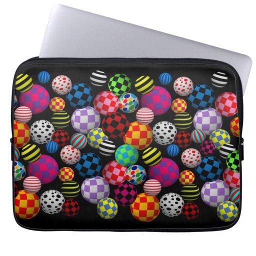 Customizable Fun & Colorful Balls Laptop Computer Sleeves
