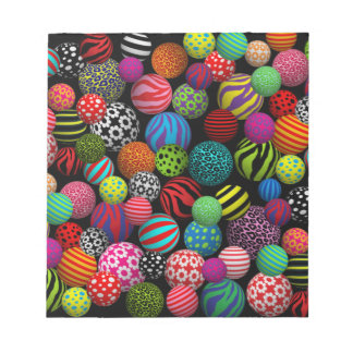 Customizable Fun & Colorful Balls Memo Note Pads
