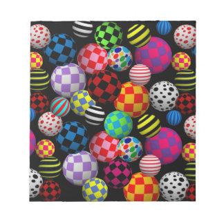 Customizable Fun & Colorful Balls Memo Pad