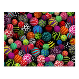 Customizable Fun & Colorful Balls Postcard