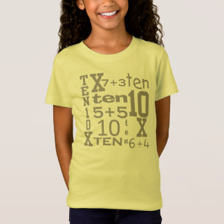 Customizable FUN Ten MATH Inspired 10th BIRTHDAY T-Shirt