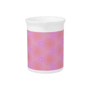 Customizable Funky Girly Pink  Background Pattern Drink Pitcher