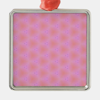 Customizable Funky Girly Pink  Background Pattern Metal Ornament