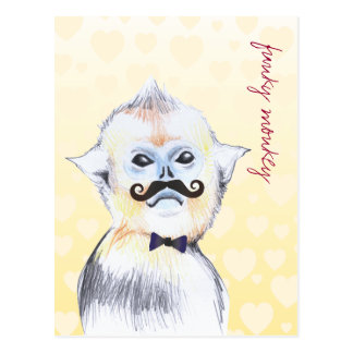 Customizable: Funky monkey Post Card